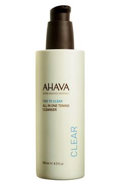 AHAVA 'Time to Clear' All in One Toning Cleanser | Nordstrom - StyleSays