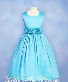 turquoise flower girl dress - Buscar con Google