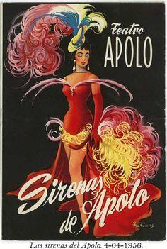 Teatre Apolo. Las sirenas del Apolo, 1956.