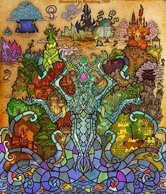 Amazing Stained Glass-Style World Of Warcraft Fan Art