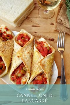 Cannelloni di pancarre Mexican Food Recipes, Italian Recipes, Vegan Recipes, Cooking Recipes, Cake Calories, Crepes, Buffet, Eat Smart, Appetisers