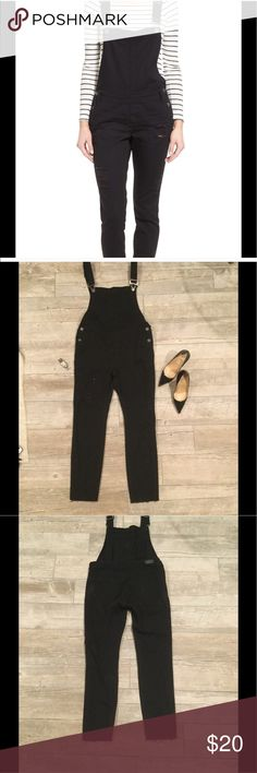 Reposh black distressed denim overalls Never worn bought from another seller but never got a chance to wear. Fits 6-8 Pants Jumpsuits & Rompers