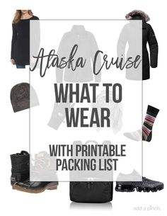 Learn What to Wear on an Alaska Cruise to be prepared for excursions as well as cruise ship activities! An essential printable packing list is included! Packing For Alaska, Alaska Cruise Tips, Packing List For Cruise, Alaska Travel, Cruise Travel, Cruise Vacation, Alaska Trip, Honeymoon Cruises, Disney Cruise