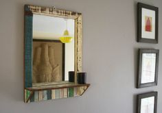 Pretty handmade mirror from the Rustic beach collection. http://www.centralcrafts.com/rustic-beach-furniture/