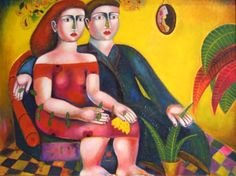 a couple Couples, Artist, Painting, Image, Artists, Painting Art, Couple, Paintings, Painted Canvas