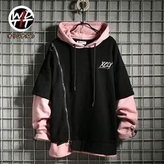Zipper personality fashion men's loose long sleeve sweater - Lilly is Love Blazer Fashion, Dope Fashion, Korean Fashion, Fashion Basics, Mens Boots Fashion, Mens Fashion Week, Fashion Belts, Fashion Watches, Fashion Rings