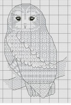 - Blackwork_Owls - CrossStitch - the pattern for the Blackwork Owls Motifs Blackwork, Blackwork Cross Stitch, Cross Stitch Owl, Blackwork Embroidery, Beaded Cross Stitch, Cross Stitch Animals, Cross Stitch Charts, Cross Stitch Designs, Cross Stitching