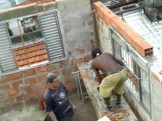 ''CRIAÇÃO CANALETA FEITA NA PAREDE'' CHANNEL СОЗДАНИЯ заказного ПО СТЕНЕ '