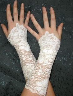 victorian white lacy dresses | Gothic_Wedding_Lace_Cuffs