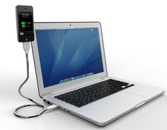 Une Bobine For iPhone 4 & iPod touch Sync & Charging Cable #apple #gadgets