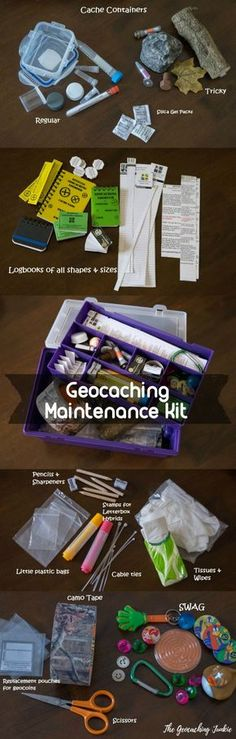 What's in your geocaching maintenance kit?