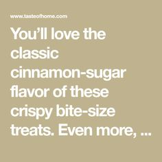 You'll love the classic cinnamon-sugar flavor of these crispy bite-size treats. Even more, you'll love that they call for just three ingredients and are so simple to assemble. Elephant Ears Recipe, Peanut Butter Nutella Cookies, Waukesha Wisconsin, Christmas Food Gifts, Christmas Stuff, Christmas Cookies, Xmas, Brownie Cake, Brownies