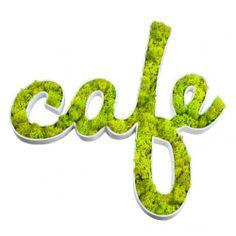 DECOPATCH Moss Wall Art, Moss Art, Coffee Shop Design, Cafe Design, Art Attak, Moss Graffiti, Eco Furniture, Green Interior Design, Wedding Letters