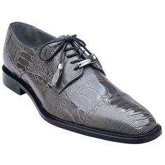 ba36802363c5e Complete your wardrobe with these ostrich skin lace-ups in gray from the  house of. Arrowsmith Shoes