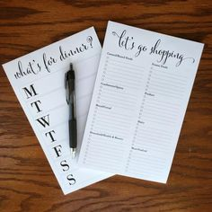 Printable Meal Planner & Grocery List | Planners, Meals and Dinners