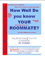 Resident Assistant .com - The Roommate Game