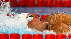 Ryan Lochte competes in a preliminary heat of the Men's 400m Individual Medley at the 2012 US Olympic Swimming Team Trials in Omaha, Nebraska.