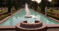 The Peacock Pool in my novel was inspired by this reflecting pool at Parkwood Estate in Oshawa, Ontario, Canada, which I've visited many times and fell in love with as a little girl. You may recognize it -- it's been featured in a number of movies :-)