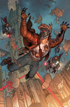 Guardians of the Galaxy #16 cover by Nick Bradshaw. So cool.