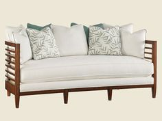 Ocean Club St. Lucia Sofa - Lexington Home Brands Dimensions: 82W x 38D x 41H in. Inside Width: 78 in. Inside Depth: 22 in. Arm Height: 32 in. Seat Height: 19½ in.