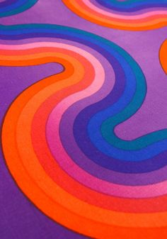 1960s Mid Century Verner Panton Spectrum Kurve for Mira X Fabric Wall Panel