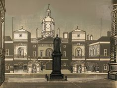 Horseguards Parade from the Nine London Monuments series 1966 by Edward Bawden