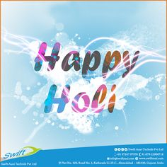 Swift Auxi Technik wishes you all a very happy and a joyous Holi which brings vibrant colors in your life and makes each moment memorable and wonderful.  #Holi #HappyHoli #HotAirDryerManufacturers #DEHumidifierManufacturers #AirChillersManufacturers
