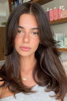 Bangs With Medium Hair, Medium Hair Styles, Long Hair Styles, Brown Hair Bangs, Haircut Medium, Side Bangs Long Hair, Medium Straight Hair, Side Fringe Long Hair, Haircut Long Hair