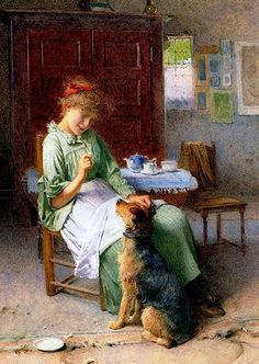 Expectation ~ Carlton Alfred Smith ~ (English: 1853-1946)