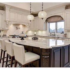 The Ultimate Awesome Luxury Dream Kitchen Design Ideas Trick - untoldhouse Farm Kitchen Ideas, Home Decor Kitchen, Interior Design Kitchen, Home Design, New Kitchen, Luxury Kitchen Design, Basic Kitchen, Copper Kitchen, Kitchen White