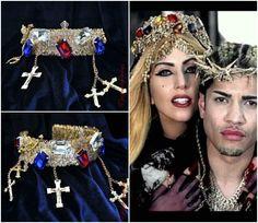 Lady Gaga Crown, Jesus Thorn Crown inspired Lady Gaga's Judas video and Vogue  #Tiara