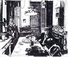 Corto Maltese in Havana by Jean Paul Leon par John Paul Leon - Illustration
