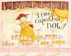 I Need Cupcakes Print by Dan Dipaolo at AllPosters.com