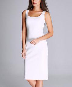 white sweetheart sheath dress