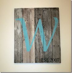 barn wood or old pallet wood wall decor