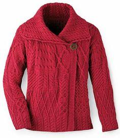 I would like something like this in cotton not wool. Amazon.com: Aran Fashion Jacket Cardigan - Red: Clothing