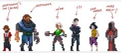 New character designs in pixel-form by Saint11.