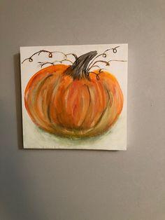 Pumpkin Canvas Painting, Autumn Painting, Painting On Wood, Fall Paintings, Vine Wall, Pumpkin Decorating, Fall Pumpkins, Halloween Decorations, Fall Decor