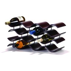 Oenophilia Bali 12-Bottle Wine Rack, Ebony black/brown