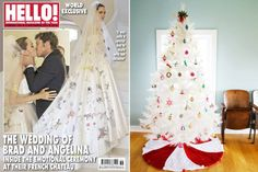 Finalmente! Lei è bellissima ma sull'abito ho i miei dubbi.. Grazie Charles Manning e @Cosmopolitan Finally! Agree! She is beatiful but I've got doubts on the dress! Thank you Charles Manning and Cosmopolitan #angelinejolie #wedding