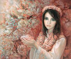 Maria Ilieva,  The aromatic treasure of Bulgaria , oil on canvas