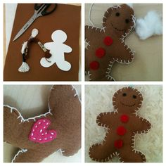 Meg's Craft and Bake Blog: Christmas Craft: Gingerbread Decorations