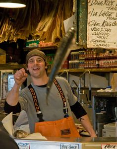 Pike Place Fish Market - Seattle  #WagonSpotting (yes, they really throw fish...it's awesome!)