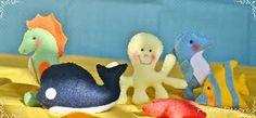 Resultado de imagem para Guirlandas para maternidade com motivo fundo do mar com moldes PINT