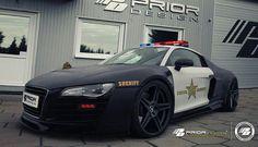 Audi R8 Police Car I like - http://extreme-modified.com/