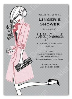 Pretty Pink Lingerie Shower Invitation