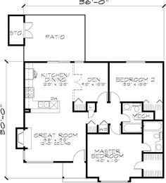 House Plan 51031 at FamilyHomePlans.com LUV WINDOWS & FLOOR PLAN