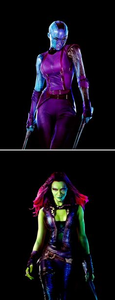 Nebula and Gamora: adopted sisters, daughters of Thanos.