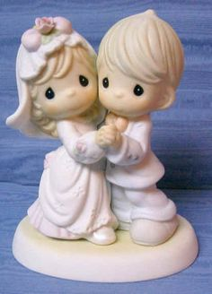 Precious moments: Can I Have This Dance for the Rest of My Life Precious Moments Wedding, Precious Moments Figurines, Wedding Dreams, Dream Wedding, Wedding Toasting Glasses, Blue Bridesmaids, Wedding Cake Toppers, Future Baby, Wedding Planning