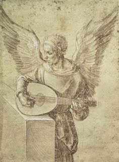 Durer: Angel playing a lute